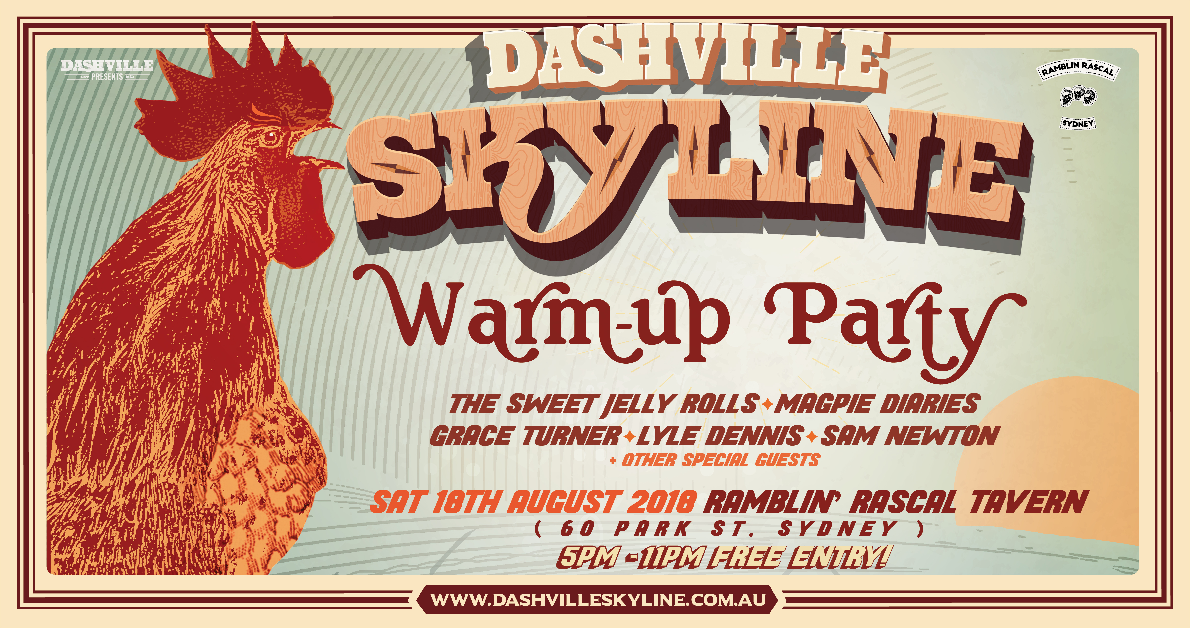 Skyline Warmup Party Facebook Event Banner