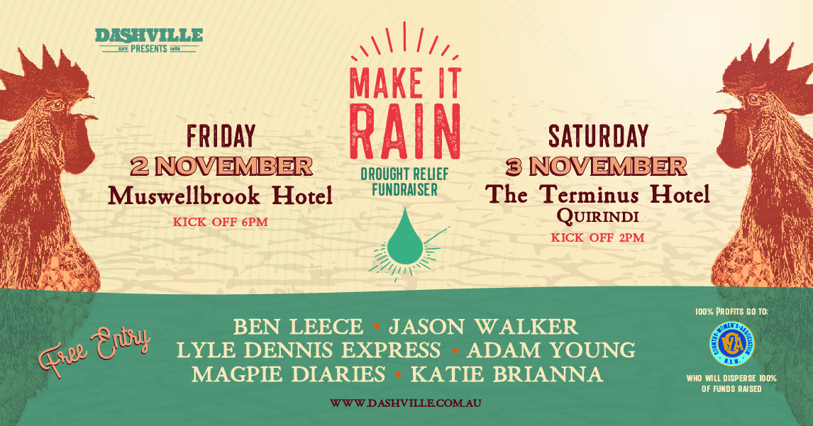 Two Special Shows Announced For Make It Rain Fundraising Efforts