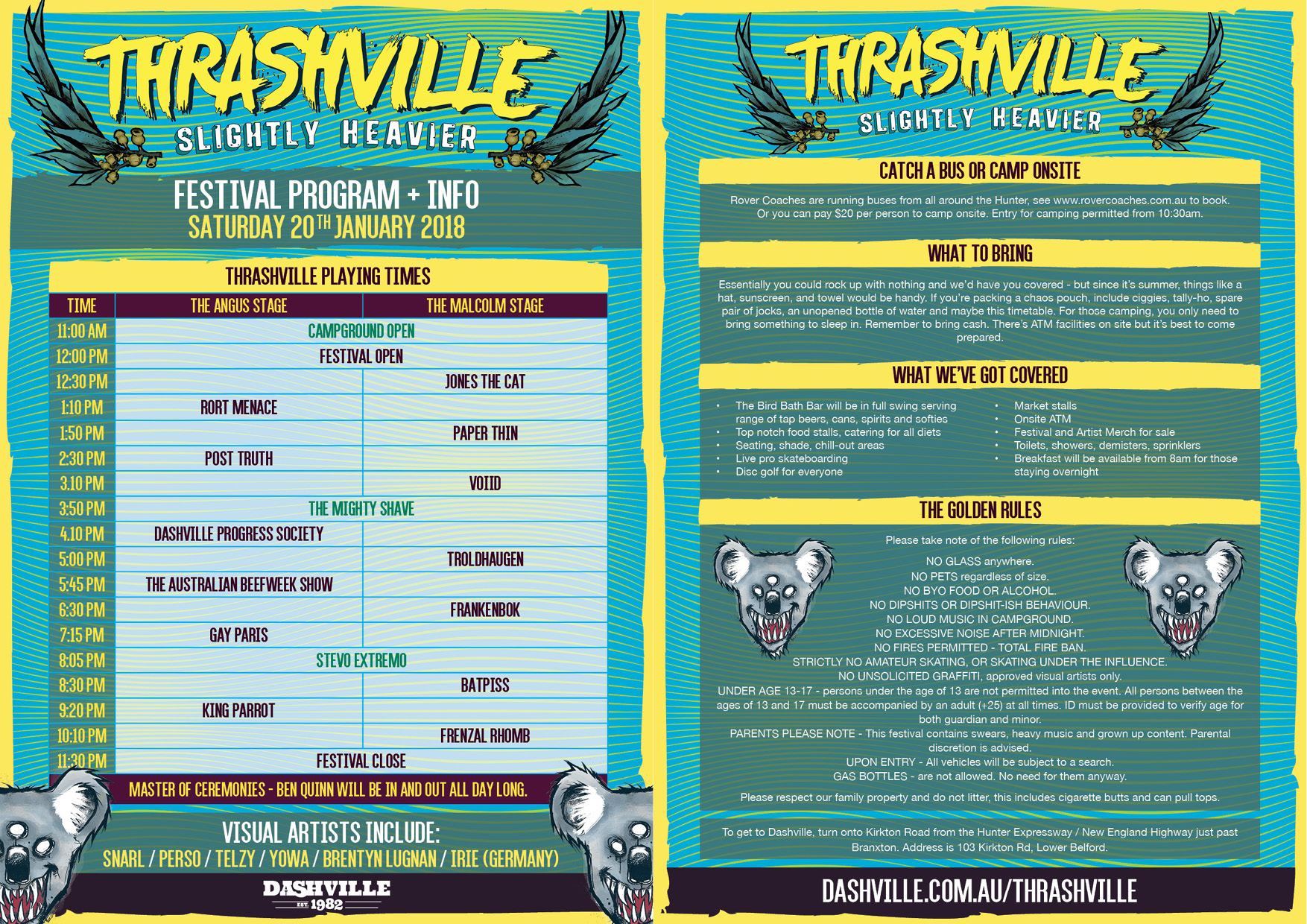 Thrashville Program + Info