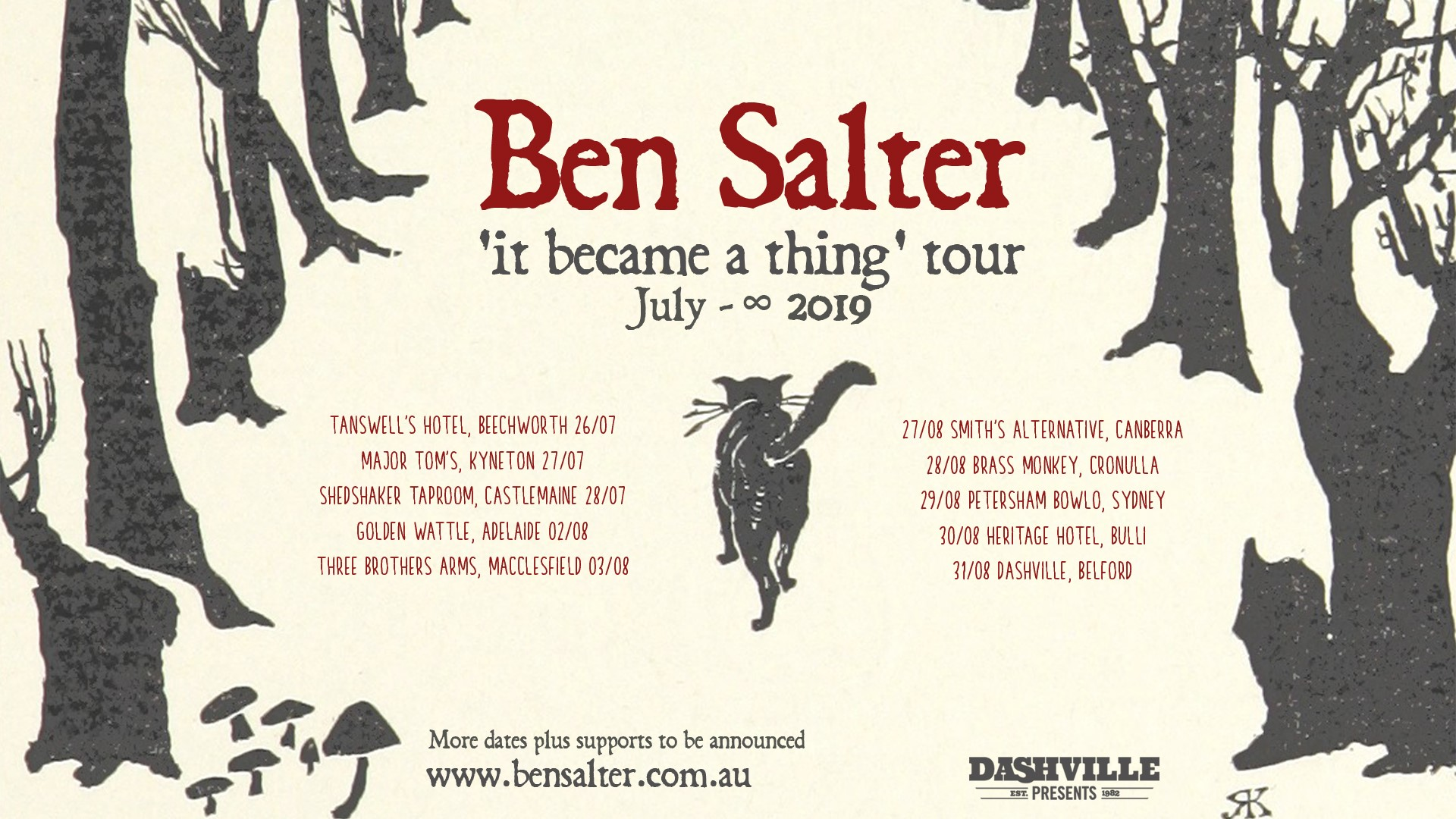 Ben Salter tour dates 2019 It Became a Thing tickets
