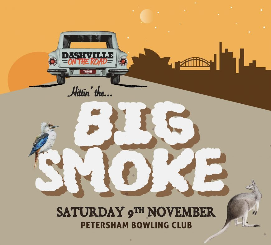 Dashville on the Road Petersham Bowling Club Gum Ball Skyline