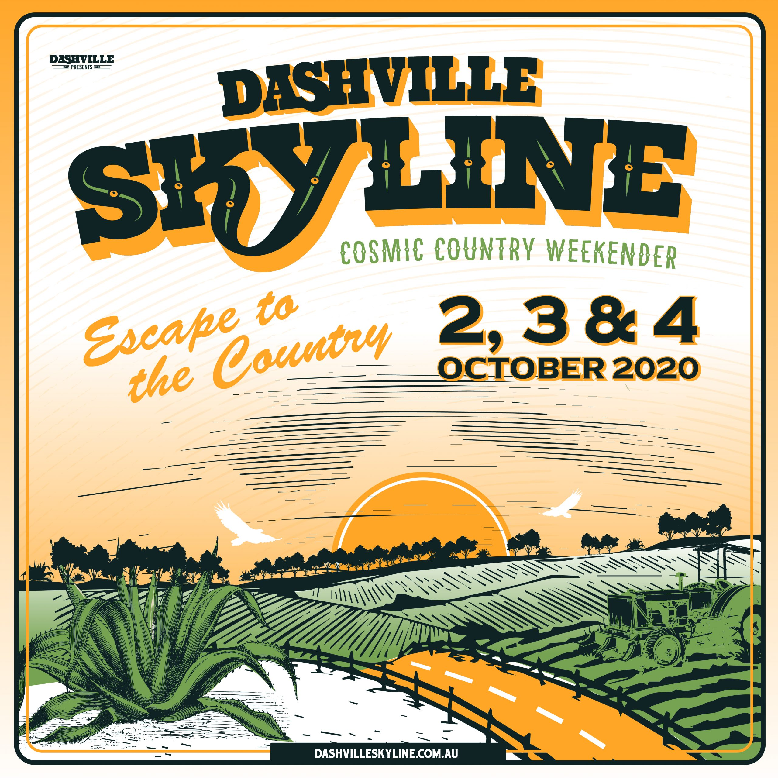 DASHVILLE Skyline 2020 Square Tile